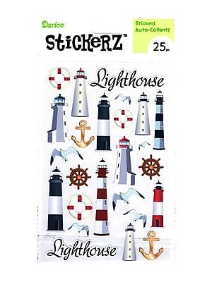 Darice Stickerz Lighthouse [Pack Of 12] (12PK-1214-36)