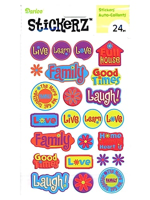 Darice Stickerz Live Laugh Love [Pack Of 12] (12PK-1214-15)