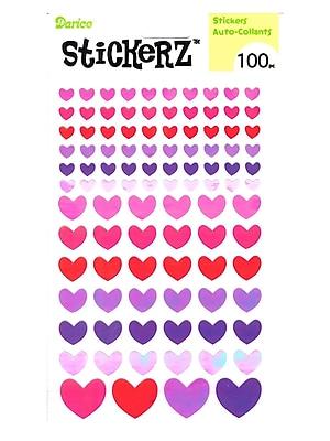 Darice Stickerz Multi-Colored Hearts [Pack Of 12] (12PK-1214-50)