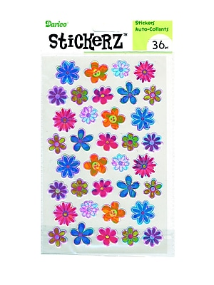 Darice Stickerz Opalescent Flowers [Pack Of 12] (12PK-1214-19)