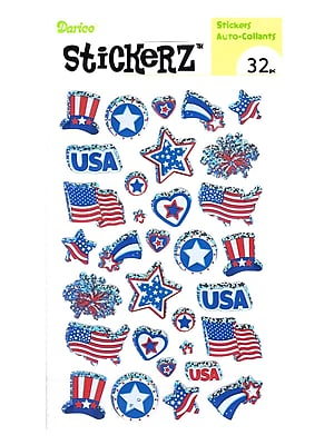 Darice Stickerz Patriotic Usa [Pack Of 12] (12PK-1214-45)