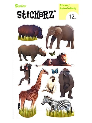 Darice Stickerz Safari Animals [Pack Of 12] (12PK-1214-40)