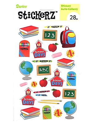 Darice Stickerz School Days [Pack Of 12] (12PK-1214-09)
