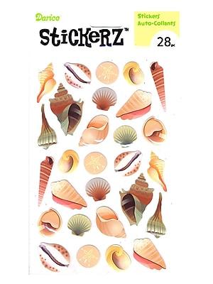 Darice Stickerz Sea Shells [Pack Of 12] (12PK-1214-35)