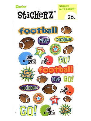 Darice Stickerz Touchdown Football [Pack Of 12] (12PK-1214-25)