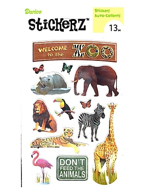Darice Stickerz Welcome To The Zoo [Pack Of 12] (12PK-1214-38)