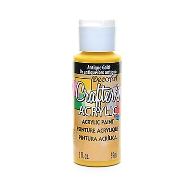 Decoart Crafters Acrylic 2 Oz Antique Gold [Pack Of 12] (12PK-DCA05-3)