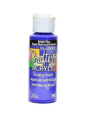 Decoart Crafters Acrylic 2 Oz Bright Blue [Pack Of 12] (12PK-DCA101-3)