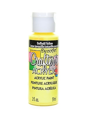 Decoart Crafters Acrylic 2 Oz Daffodil Yellow [Pack Of 12] (12PK-DCA53-3)
