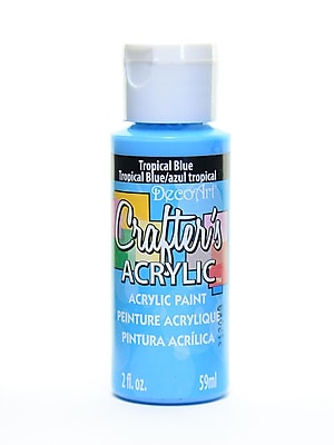 Decoart Crafters Acrylic 2 Oz Tropical Blue [Pack Of 12] (12PK-DCA102-3)