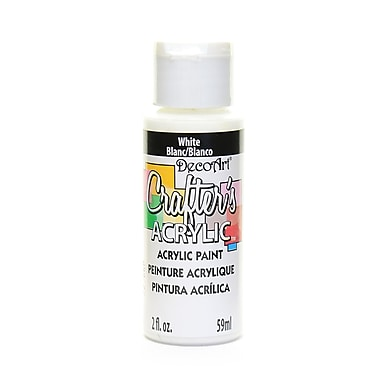 Decoart Crafters Acrylic 2 Oz White [Pack Of 12] (12PK-DCA01-3)