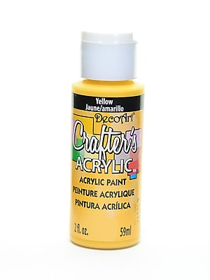 Decoart Crafters Acrylic 2 Oz Yellow [Pack Of 12] (12PK-DCA04-3)