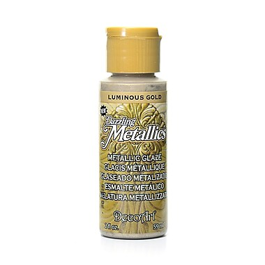 Decoart Dazzling Metallics Luminous Gold [Pack Of 8] (8PK-DGM02-3)