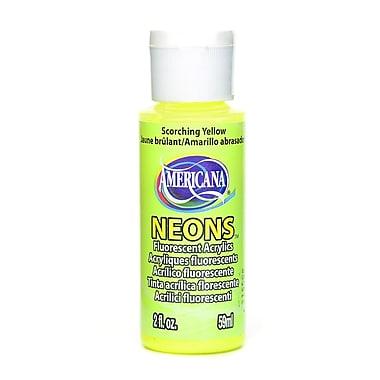 Decoart Hot Shots Fluorescent Acrylics Scorching Yellow [Pack Of 8] (8PK-DHS1-3)