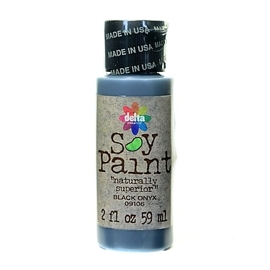 Delta Soy Paint 2 Oz. Bottles Black Onyx [Pack Of 8] (8PK-09106)