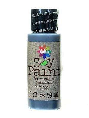 Delta Soy Paint 2 Oz. Bottles Black Onyx [Pack Of 8] (8PK-09106)