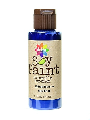 Delta Soy Paint 2 Oz. Bottles Blueberry [Pack Of 8] (8PK-09108)