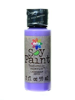 Delta Soy Paint 2 Oz. Bottles Lavender [Pack Of 8] (8PK-09114)
