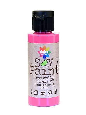 Delta Soy Paint 2 Oz. Bottles Pink Hibiscus [Pack Of 8] (8PK-09113)