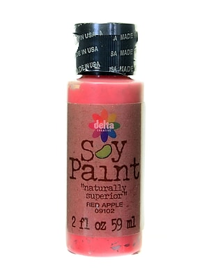 Delta Soy Paint 2 Oz. Bottles Red Apple [Pack Of 8] (8PK-09102)