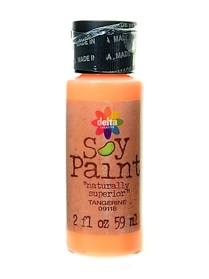 Delta Soy Paint 2 Oz. Bottles Tangerine [Pack Of 8] (8PK-09118)