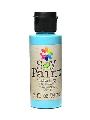 Delta Soy Paint 2 Oz. Bottles Turquoise [Pack Of 8] (8PK-09115)