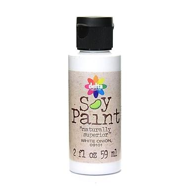 Delta Soy Paint 2 Oz. Bottles White Onion [Pack Of 8] (8PK-09101)