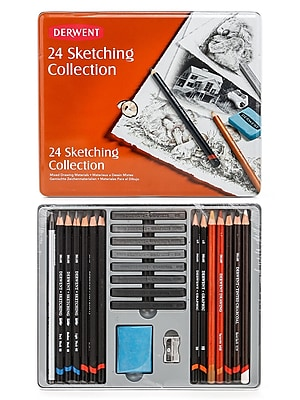 Derwent Sketching Pencil Collections Tin Of 24 (34306)