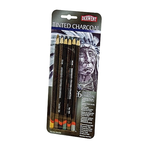 Derwent Tinted Charcoal Pencil Sets Set Of 6 (2301689) at ...