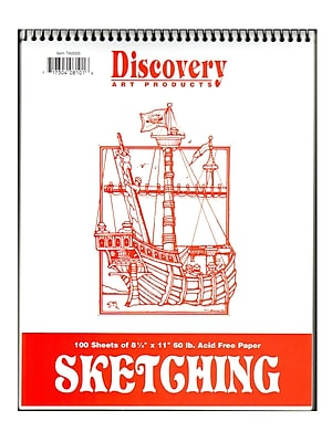 Discovery Sketching Pads 11 In. X 8 1/2 In. 100 Sheets [Pack Of 2] (2PK-TA0005)