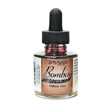 Dr. Ph. Martin'S Bombay India Ink 1 Oz. Brown [Pack Of 4] (4PK-800815-6BY)