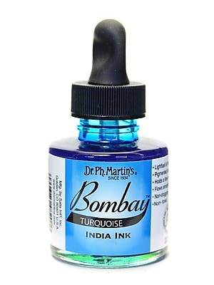 Dr. Ph. Martin'S Bombay India Ink 1 Oz. Turquoise [Pack Of 4] (4PK-800815-20BY)