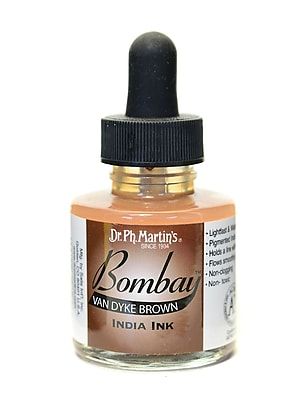 Dr. Ph. Martin'S Bombay India Ink 1 Oz. Van Dyke Brown [Pack Of 4] (4PK-800815-23BY)