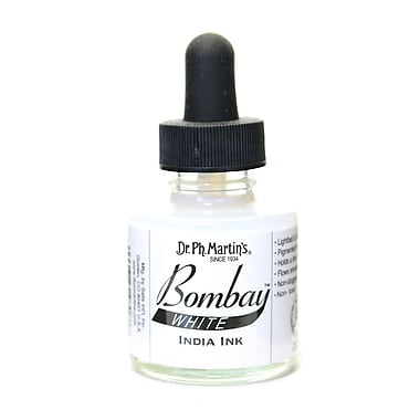 Dr. Ph. Martin'S Bombay India Ink 1 Oz. White [Pack Of 4] (4PK-800815-8BY)