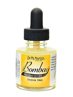 Dr. Ph. Martin'S Bombay India Ink 1 Oz. Yellow Ochre [Pack Of 4] (4PK-800815-21BY)