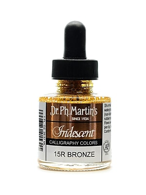 Dr. Ph. Martin'S Iridescent Calligraphy Colors 1 Oz. Bronze [Pack Of 2] (2PK-400070-15R)