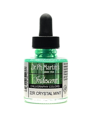 Dr. Ph. Martin'S Iridescent Calligraphy Colors 1 Oz. Crystal Mint [Pack Of 2] (2PK-400070-22R)