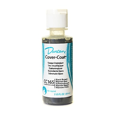 Duncan Cover-Coat Opaque Underglazes Black Brown 2 Oz. [Pack Of 4] (4PK-CC165-2 91807)