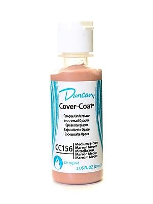 Duncan Cover-Coat Opaque Underglazes Medium Brown 2 Oz. [Pack Of 4] (4PK-CC156-2 91793)