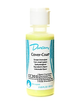 Duncan Cover-Coat Opaque Underglazes Neon Chartreuse 2 Oz. [Pack Of 4] (4PK-CC203 82570)