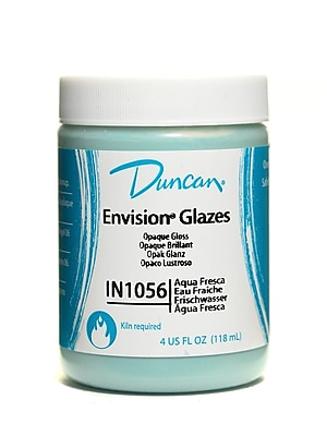 Duncan Envision Glazes Aqua Fresca Opaque 4 Oz. [Pack Of 4] (4PK-IN1056-4 99805)