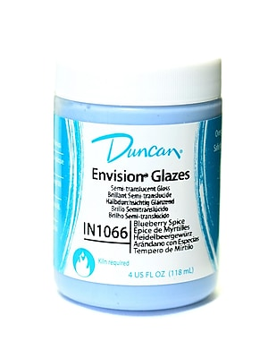 Duncan Envision Glazes Blueberry Spice Translucent Speckled 4 Oz. [Pack Of 4] (4PK-IN1066-4 81274)