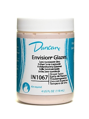 Duncan Envision Glazes Grape Spice Translucent Speckled 4 Oz. [Pack Of 4] (4PK-IN1067-4 81275)