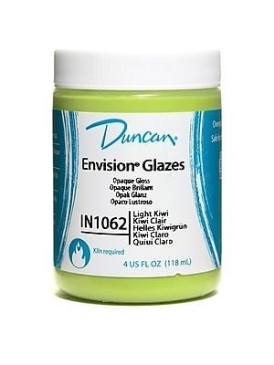 Duncan Envision Glazes Light Kiwi Opaque 4 Oz. [Pack Of 4] (4PK-IN1062-4 81193)