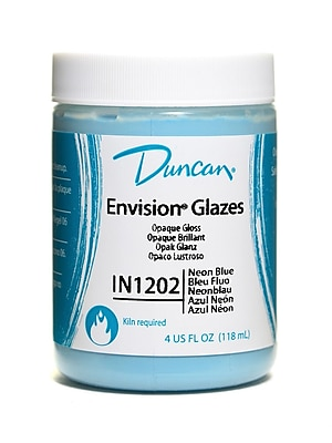 Duncan Envision Glazes Neon Blue Opaque 4 Oz. [Pack Of 4] (4PK-IN1202-4 25249)