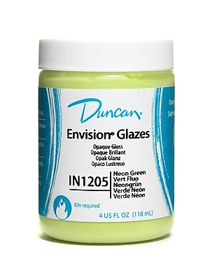 Duncan Envision Glazes Neon Green Opaque 4 Oz. [Pack Of 4] (4PK-IN1205-4 25252)