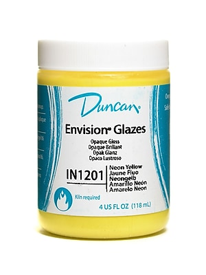 Duncan Envision Glazes Neon Yellow Opaque 4 Oz. [Pack Of 4] (4PK-IN1201-4 25248)