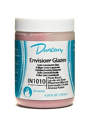 Duncan Envision Glazes Plum Blush Translucent 4 Oz. [Pack Of 4] (4PK-IN1010-4 97659)