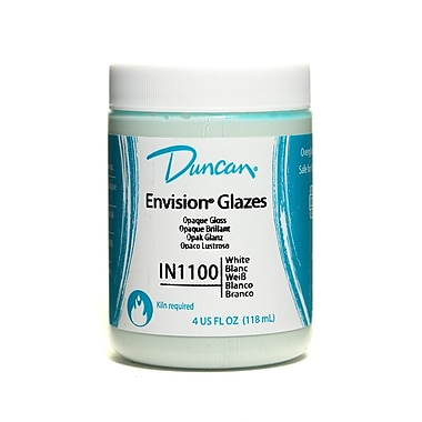 Duncan Envision Glazes White Opaque 4 Oz. [Pack Of 4] (4PK-IN1100-4 91084)