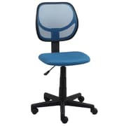 Essentials by OFM Armless Mesh Back and Fabric Task Chair, Blue, (E1009-BLUE)